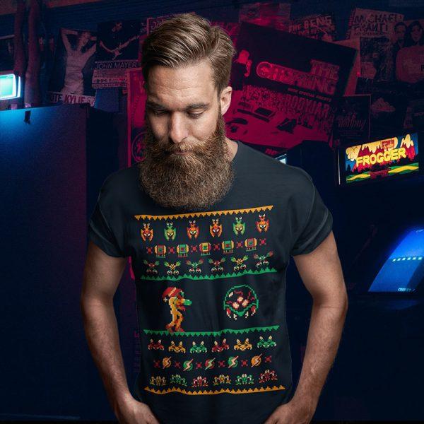 Metroid Ugly Christmas Sweater Tee