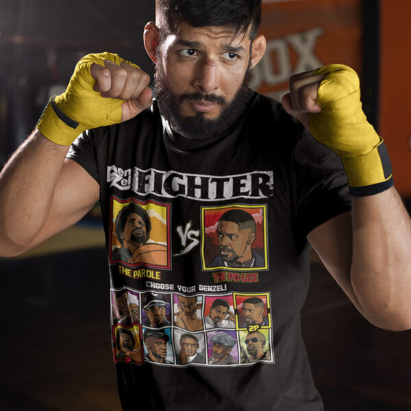 Denzel Washington Fighter - He Got Game vs Training Day T-Shirt