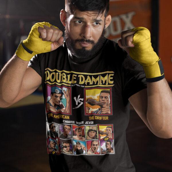double damme jcvd world tour - street fighter vs hard target t-shirt