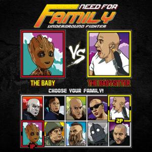 Vin Diesel Family Fighter - Baby Groot vs The Pacifier