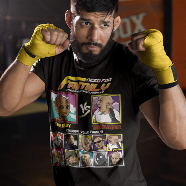 Vin Diesel Family Fighter - Baby Groot vs The Pacifier T-Shirt