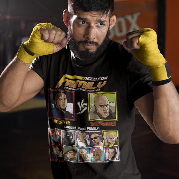 Vin Diesel Family Fighter - Fast & Furious vs XXX T-Shirt