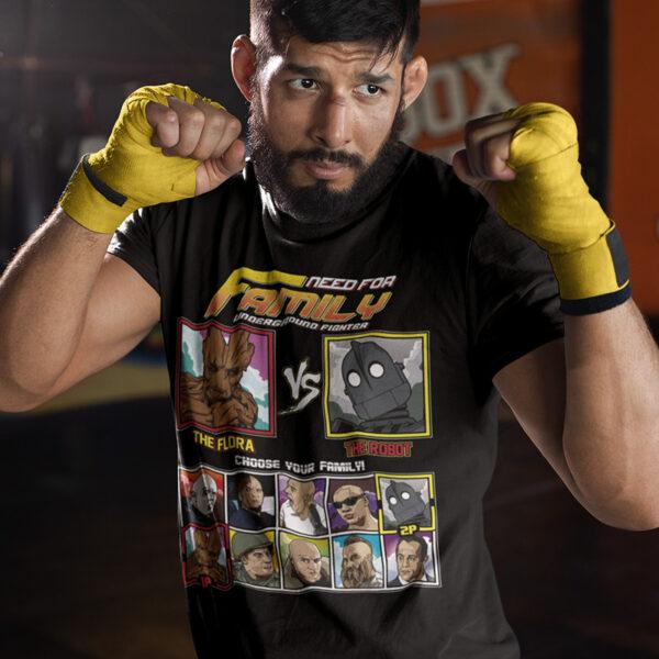 Vin Diesel Family Fighter - Groot vs Iron Giant T-Shirt