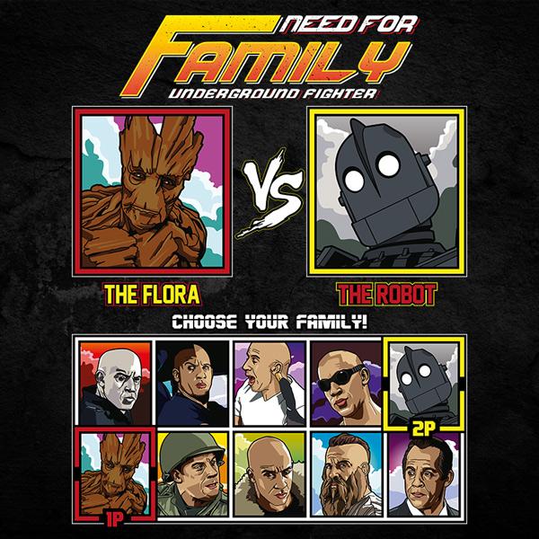 Vin Diesel Family Fighter - Groot vs Iron Giant