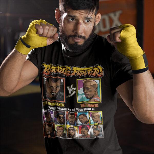 Wesley Snipes Fighter - Blade vs Demolition Man T-Shirt