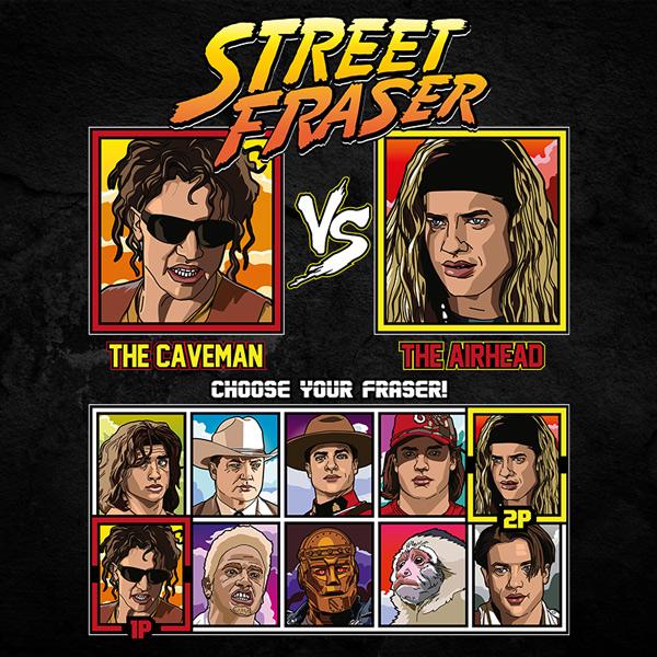 Brendan Fraser Fighter - Encino Man vs Airheads