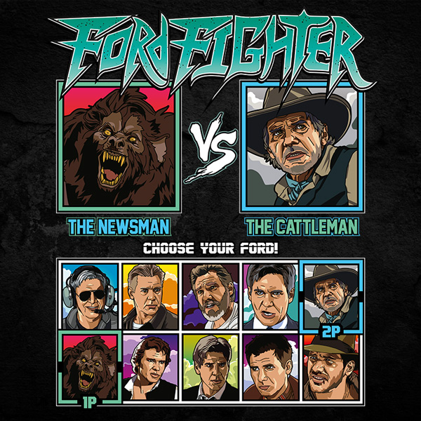 Harrison Ford Fighter - Anchorman vs Cowboys vs Aliens