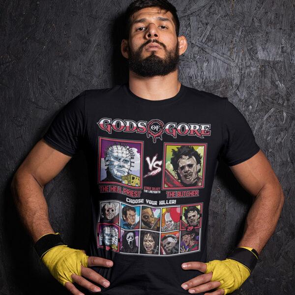 Gods of Gore - Hellraiser vs Texas Chainsaw Massacre T-Shirt