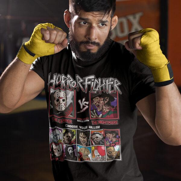 Horror Fighter - Friday 13th vs Nightmare on Elmstreet Tee