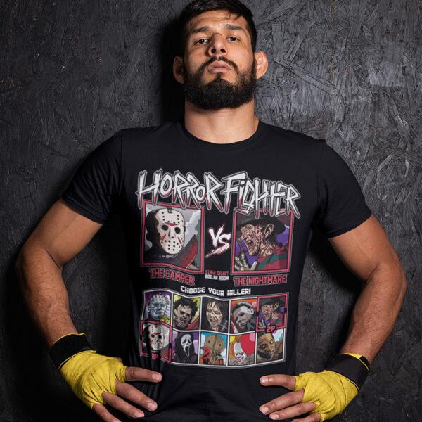 Horror Fighter - Friday 13th vs Nightmare on Elmstreet T-Shirt
