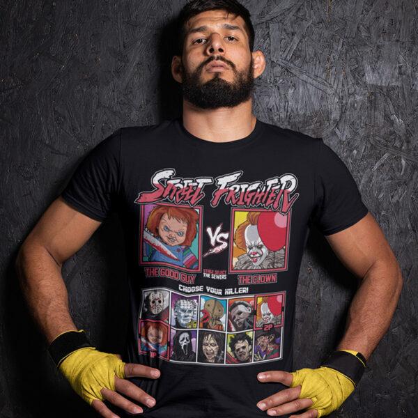 Street Frighter - Chucky vs IT Clown T-Shirt