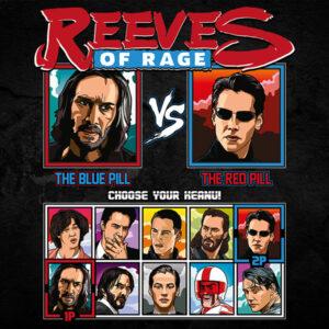 Keanu Reeves of Rage - Matrix Tshirt