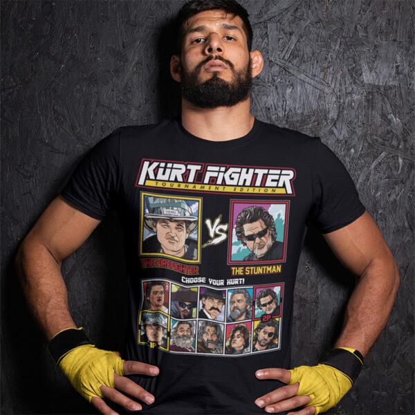 Kurt Russell Fighter - Backdraft vs Deathproof T-Shirt