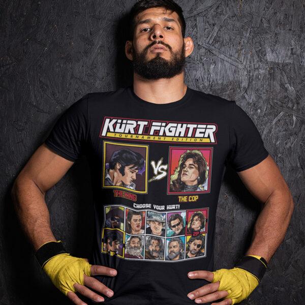 Kurt Russell Fighter - Elvis vs Tango & Cash Tshirt