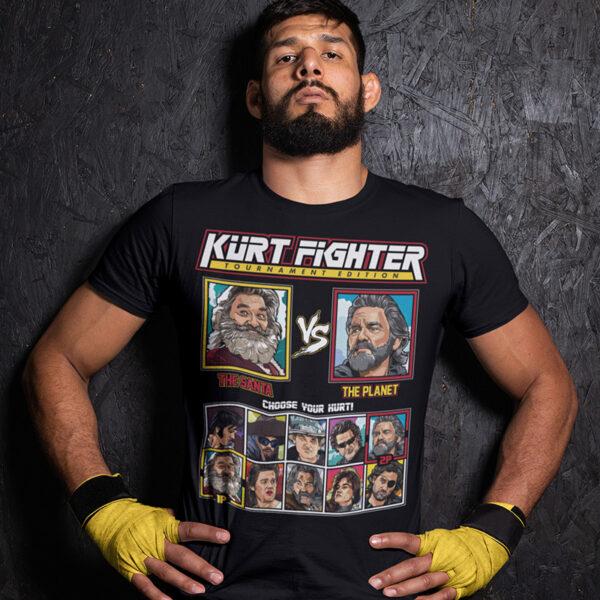 Kurt Russell Fighter - Santa Chronicles vs Guardians of the Galaxy Ego Tshirt