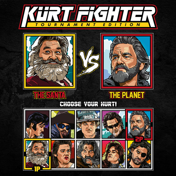Kurt Russell Fighter - Santa Chronicles vs Guardians of the Galaxy Ego