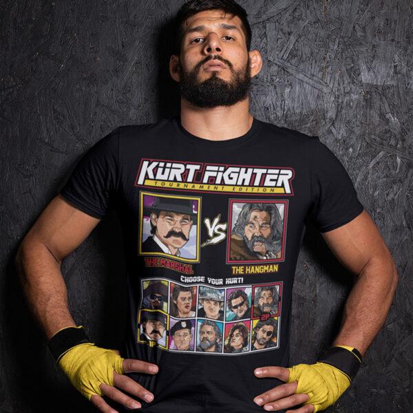 Kurt Russell Fighter - Tombstone vs The Hateful Eight Tshirt