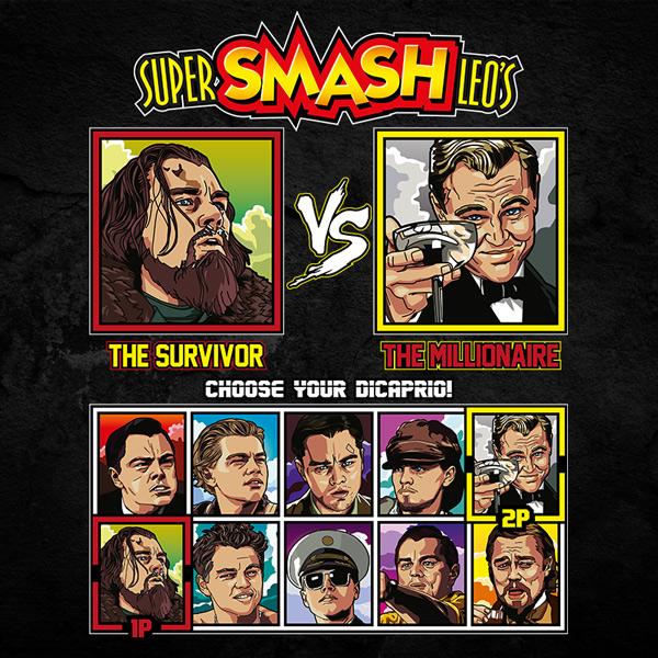Leonardo DiCaprio Fighter T-Shirt - The Revenant vs The Great Gatsby