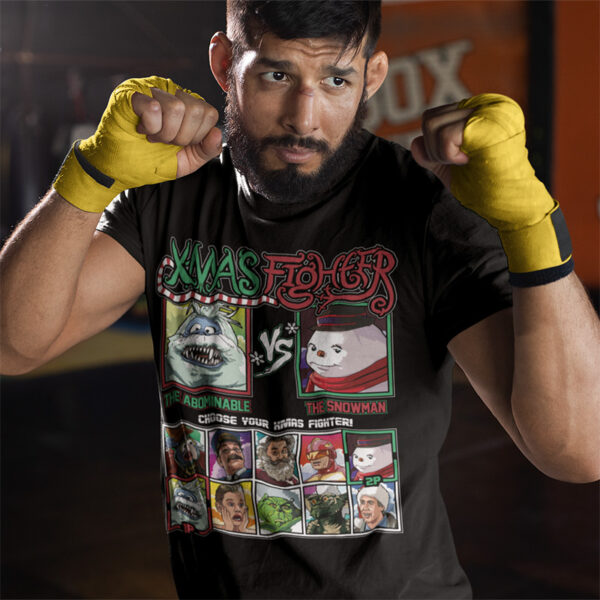 Xmas Fighter - Abominable Snowmonster vs Jack Frost Tee