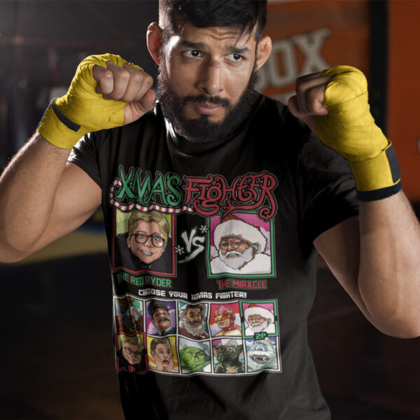 Xmas Fighter - Christmas Story vs Miracle on 34th Street Tee